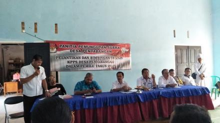 Pelantikan Dan Bimbingan Teknis KPPS Desa Penyabangan Dalam Pemilu Tahun 2019